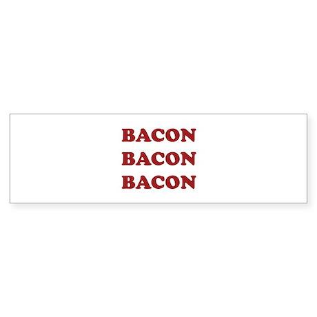 Bacon Bacon Bacon Sticker (Bumper 10 pk)