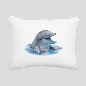 Happy Dolphin Rectangular Canvas Pillow