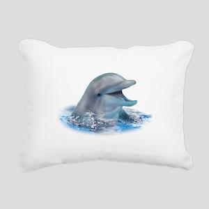 Happy Dolphin Rectangular Canvas Pillow