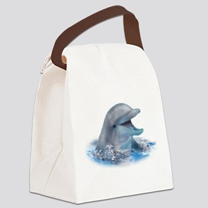 Happy Dolphin Canvas Lunch Bag