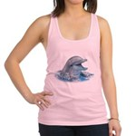 Happy Dolphin Racerback Tank Top