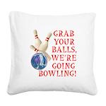 FIN-grab balls bowling.png Square Canvas Pillow