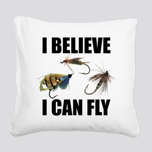 I Believe I Can Fly Square Canvas Pillow