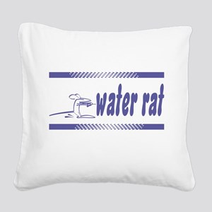 FIN-water-rat-water-skiing Square Canvas Pillo