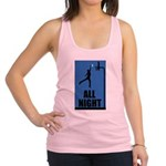 FIN-all night basketball x Racerback Tank Top