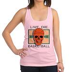 FIN-live-die-basketball Racerback Tank Top