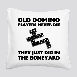 FIN-domino-players-never-die Square Canvas Pil