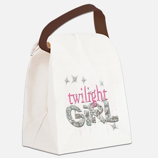 Twilight Girl Pink Canvas Lunch Bag