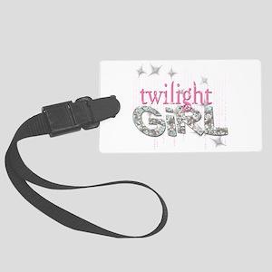 Twilight Girl Pink Large Luggage Tag
