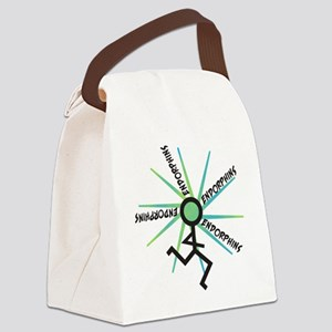 Funny Runner Endorphins Canvas Lunch Bag
