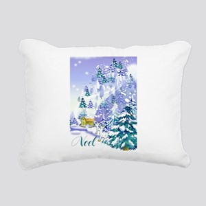 Goat Winter Noel front  Rectangular Canvas Pil