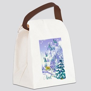 Goat Winter Noel front  Canvas Lunch Bag