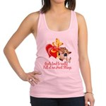Goats Pull at Heart Strings Racerback Tank Top