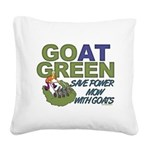 GOatGreen Square Canvas Pillow
