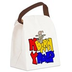 My Barn My Rules Goat Canvas Lunch Bag