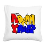 My Barn My Rules Shy Goat Square Canvas Pillow