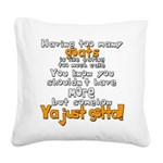 Too Many Goats Square Canvas Pillow
