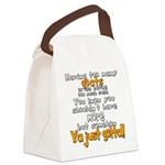 Too Many Goats Canvas Lunch Bag
