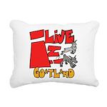 Copy of goatland Rectangular Canvas Pillow