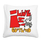 Copy of goatland Square Canvas Pillow