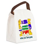 Life is Fun with Goats Canvas Lunch Bag