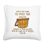 feedbucket2 copy Square Canvas Pillow