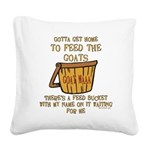feedbucket2 copy Square Canvas Pillow