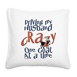 GOAT-drivehubbycrazy Square Canvas Pillow