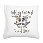 GOATS-kiddingseason Square Canvas Pillow