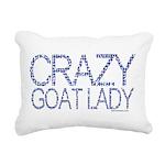 GOAT-crazygoatlady Rectangular Canvas Pillow