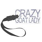 GOAT-crazygoatlady Large Luggage Tag