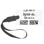 GOAT-impressme-goatshow Large Luggage Tag