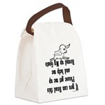 GOAT-Ifyoucanreadthis Canvas Lunch Bag