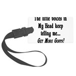Get More Goats Large Luggage Tag