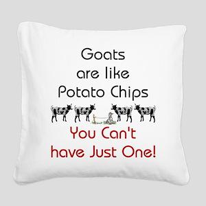 GOATS-potatochips Square Canvas Pillow
