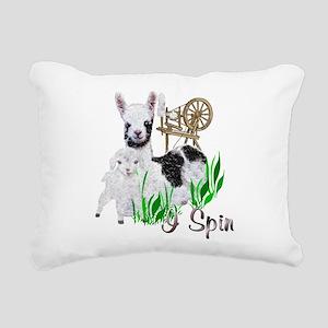 llama-goat-cute Rectangular Canvas Pillow