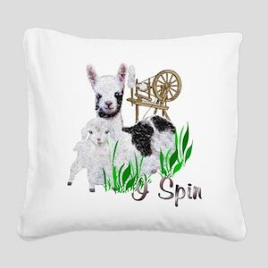 llama-goat-cute Square Canvas Pillow