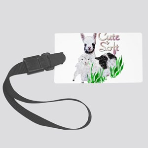 llama-goat-cute Large Luggage Tag