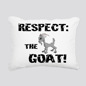 Goat-Respect-grungeDK Rectangular Canvas Pillo
