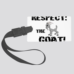 Goat-Respect-grungeDK Large Luggage Tag
