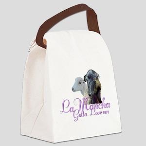 GOAT-LaMancha-Loveem Canvas Lunch Bag