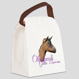 Goat-Oberhasli-Loveem Canvas Lunch Bag