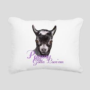 GOAT-Pygmy-Loveem Rectangular Canvas Pillow
