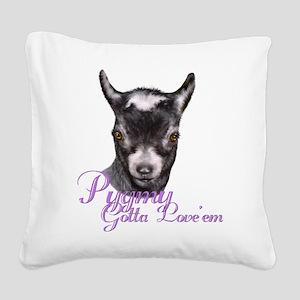 GOAT-Pygmy-Loveem Square Canvas Pillow