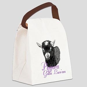 GOAT-Pygora-Loveem Canvas Lunch Bag