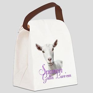 GOAT-Saanen-Loveem Canvas Lunch Bag