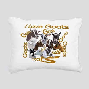 Goat-ILOVE Rectangular Canvas Pillow
