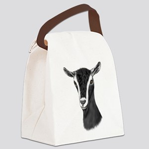 Goat-Portrait-Alpine2 Canvas Lunch Bag