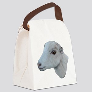 Goat-Portrait-LaMancha Canvas Lunch Bag