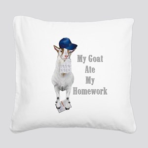 GOAT-homework Square Canvas Pillow